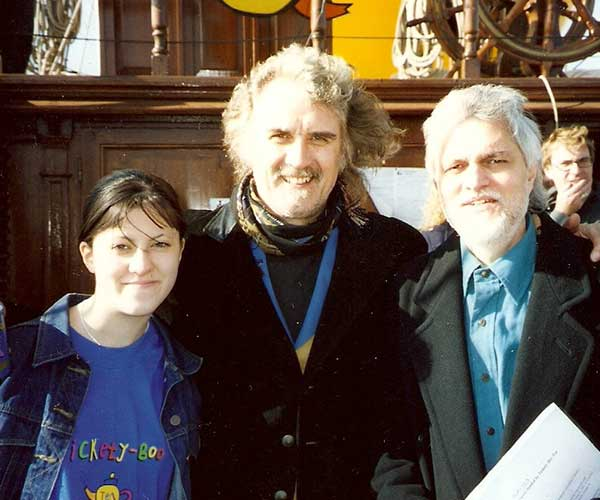 Danny Smith and Jessica Smith with Billy Connolly