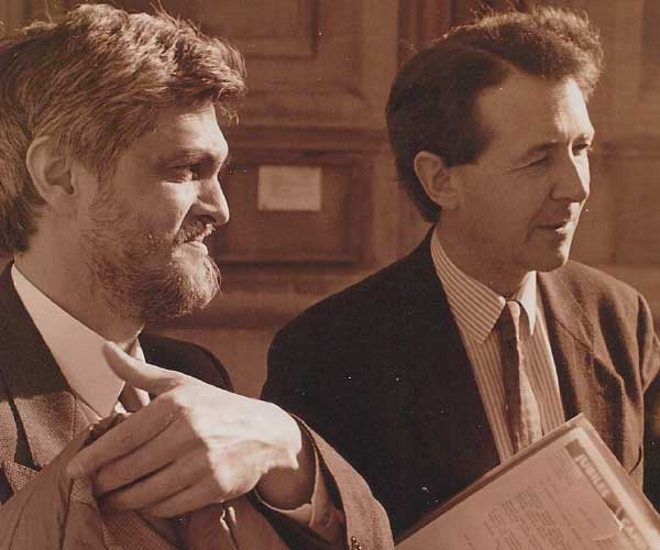 Danny Smith with Lord Alton of Liverpool