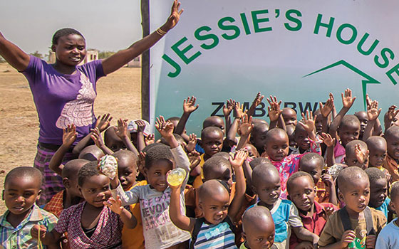 Kids at Jessies House in Zimbabwe